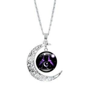 2020 New Fashion 12 Constellation Moon Vintage regular Crystals Pendant Necklaces Necklace Multi Spar Quartz Crystals Jewelry
