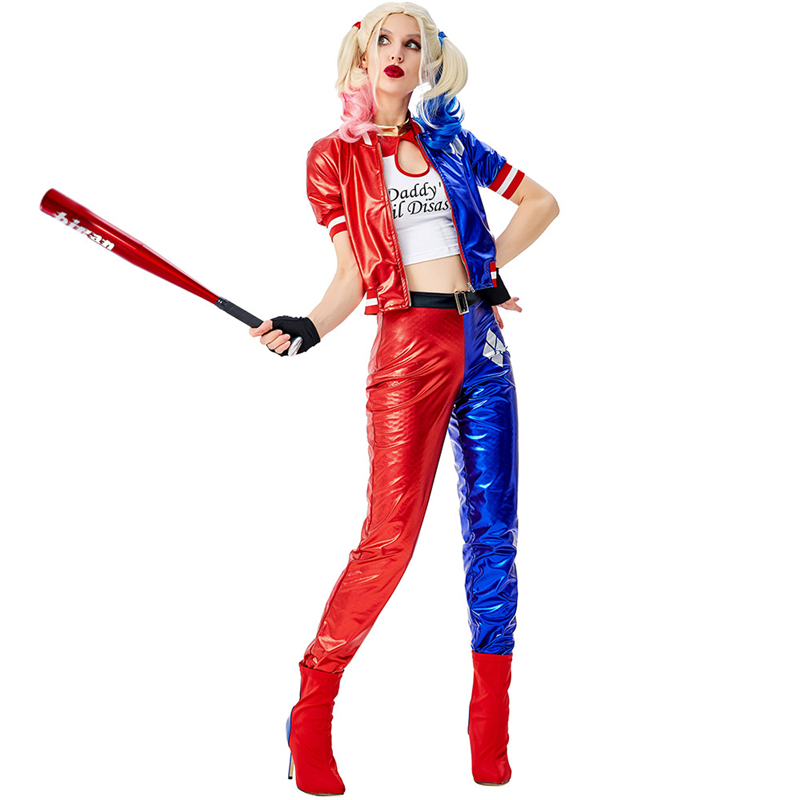 Suicide Squad Harley Quinn Costume Adult Woman Sexy Clown Joker Suit Birds Of Prey Harley Queen Carnival Halloween Costumes Movie Tv Costumes Aliexpress