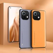 יוקרה עור טלפון מקרה עבור Xiaomi Mi 11 לייט 10T 10 פרו Poco X3 NFC F3 M3 Redmi הערה 9T 9S 10S 9 10 פרו מקס 10X כיסוי מקרה