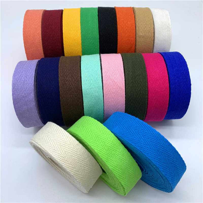 5yards 10mm 20mm 100% Cotton Ribbon Hserringbone Ribbon Hair Bow Party natale decorazione di cerimonia nuziale mestieri di cucito fai da te