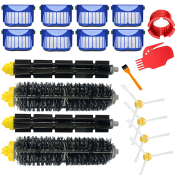 Replacement Part Kit For iRobot Roomba 600 Series 610 620 625 630 650 660 Vacuum Beater Bristle Brush+Aero Vac Filter+side Brush 3x robot filter 3x side brush 1beater brush kit replacement for irobot roomba 600 series 595 620 630 650 660 12 pcs lot