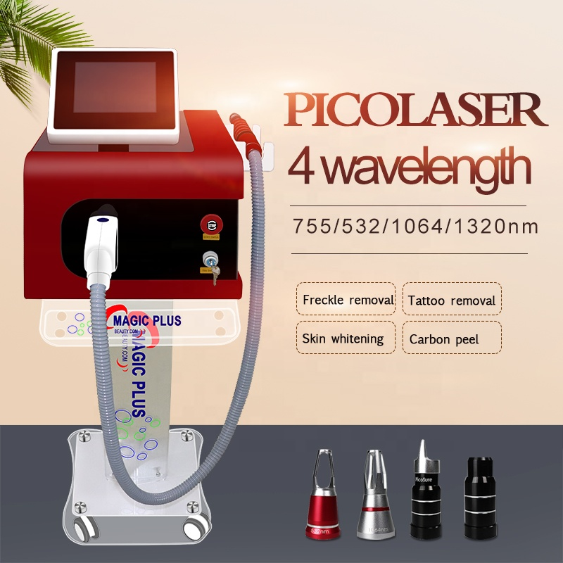 2019 best Nd Yag Laser Pico Laser <font><b>1064</b></font> 532 755 1320 <font><b>nm</b></font> Picosecond Laser Tattoo Removal Machine Face Skin Care Tools image