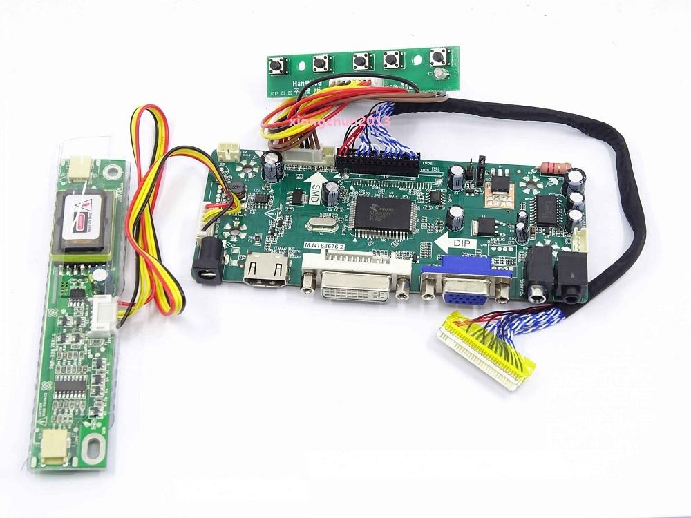 HDMI+DVI+AUDIO+VGA LCD Controller Board Kit Display For 18.5
