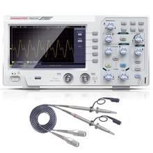 100mhz de canal duplo osciloscópio digital 1gsa/s 7 Polegada display lcd a cores 800*480 pixels