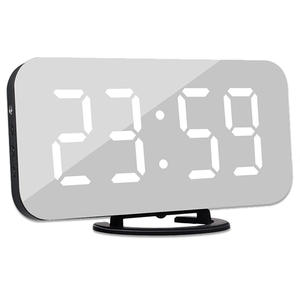 Alarm-Clock Desk Phone-Charging Night-Mirror Led-Table Display-Time Snooze Digital Kids