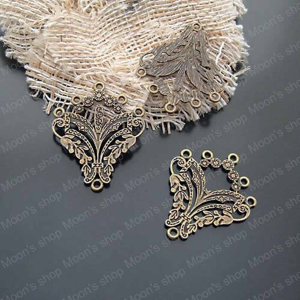Wholesale 36*30mm  Antique Bronze Alloy Earrings Diy Jewelry Findings Accessories 10 pieces(JM253)