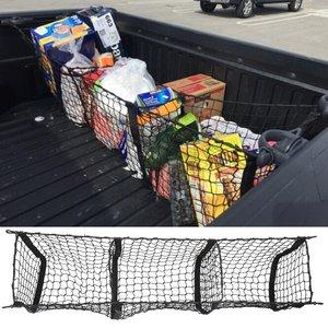 Image 1 - Auto Veranstalter Hinten Lkw Lagerung Tasche Gepäck Netze Haken Dumpster Net Für Ford F150 F650 Atlas Abendessen Duty Ranger Zubehör