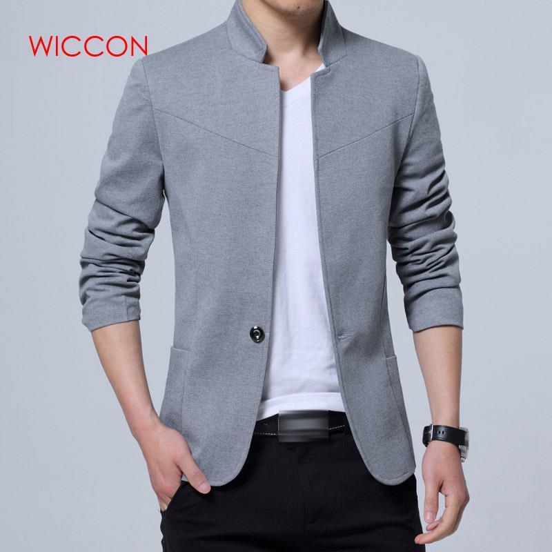 2020 New Blazer Men Jackets Male Stand Collar Male Blazers Slim Fit Mens Blazer Black Jacket Men Plus Size Spring Wear