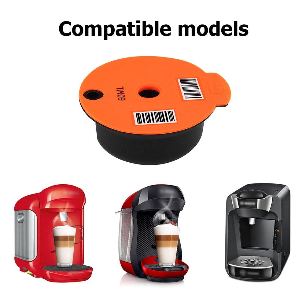 Универсальный Кофе капсула чашка с ложка-кисточка многоразовая перезаправляемая кофейная капсула Кофе капсулы фильтр многоразового испол...