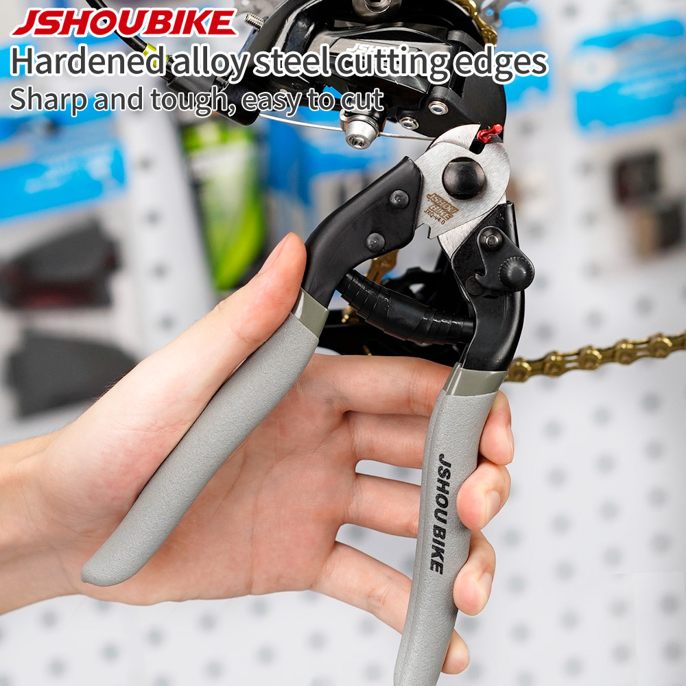 JSHOU BIKE Cable Housing Cutter Pliers Professional Wire Nipper Breaker Cycling Tool Line Clamp Repair Accessories Mountain Bike