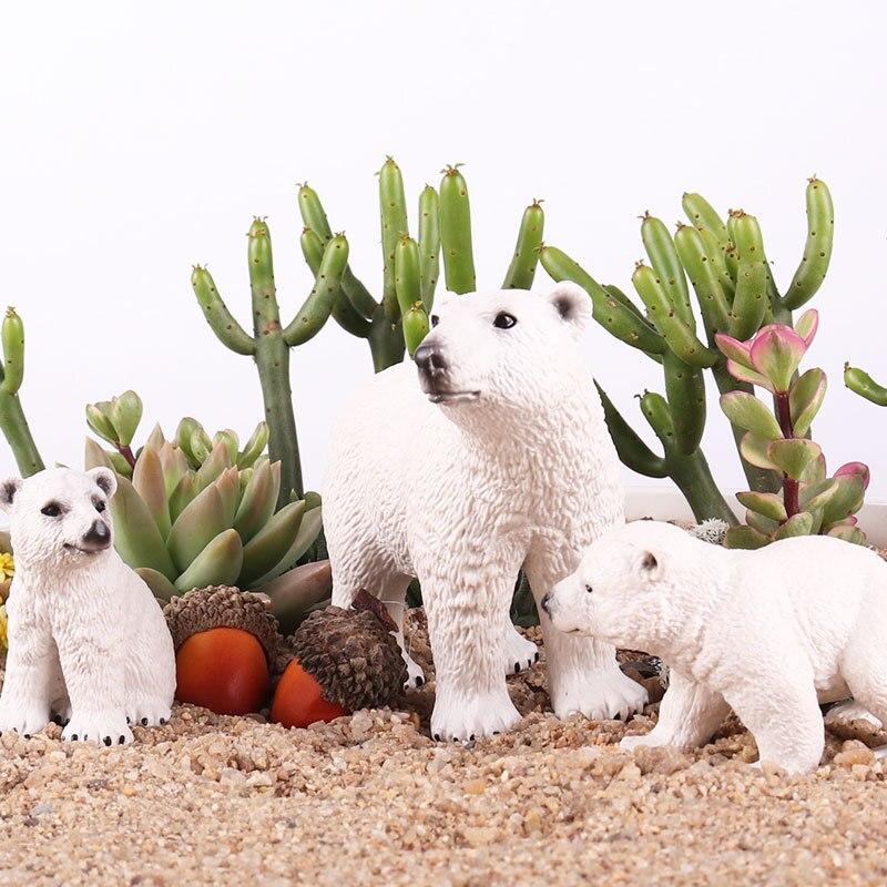 ♥В наличии♥Детская имитационная модель дикого морского животного, декоративные предметы мебели, твердый полярный медведь, игрушечный кос...