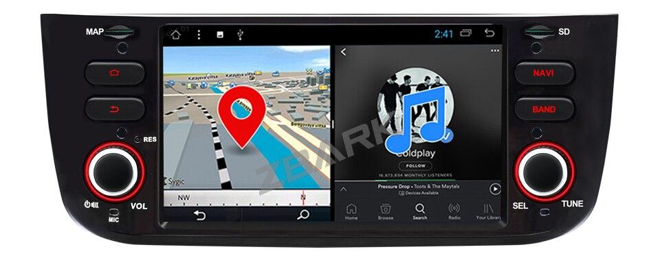 Estock1 Android 10 GPS USB SD WI-FI Bluetooth MirroLink autoradio navigatore compatibile con Fiat Punto Evo Fiat Street 2010 2012 2015 2011 2014 2013