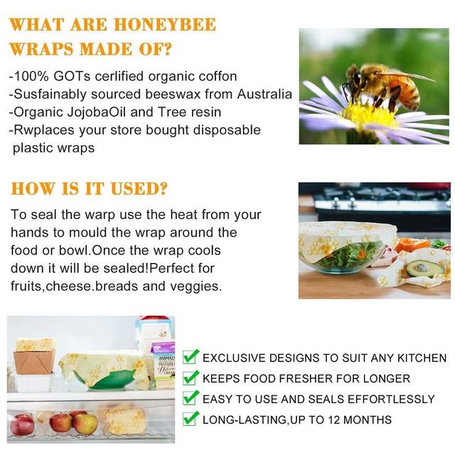 Zero Waste Bees Wax Paper Reusable Sandwich Bag