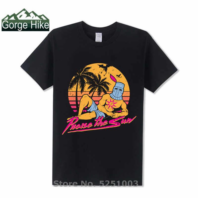Grande TV show Hawaii disegno Lode Estate T-shirt da uomo parodia Miami Hotline Lode il sole T-Shirt di Moda Scuro anime tshirt