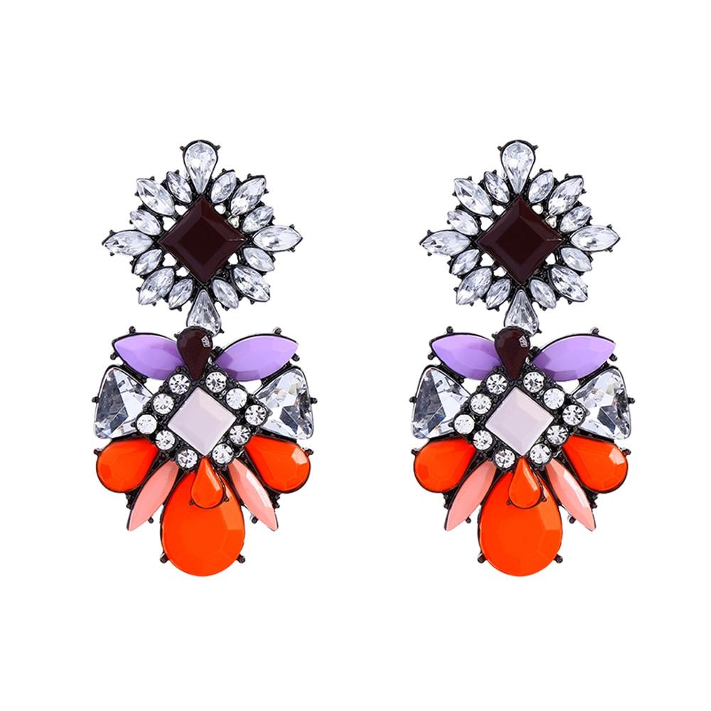 Νέα Άφιξη Γυαλί Χαριτωμένο Δήλωση Σκουλαρίκια Αξεσουάρ Καλοκαιρινής Φόρεμα Candy Color Μεγάλα Σκουλαρίκια για Γυναίκες