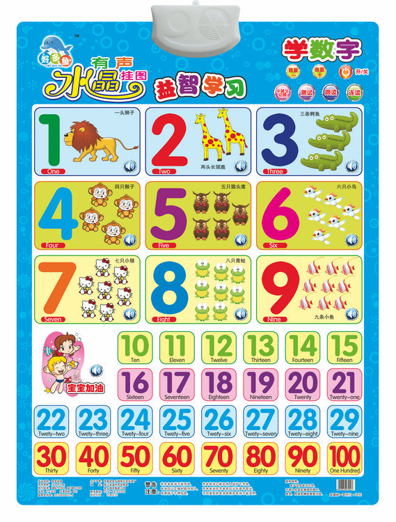Educational Toy Shape Color Audio Chart Voice Sound Making Hanging Picture Children Learning Educational Early Childhood Hanging