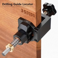 Drillpro Aluminum Alloy 35mm Hinge Jig With Clamp Drill Guide Hole Punch Locator Kit Woodworking Installation Hole Locator