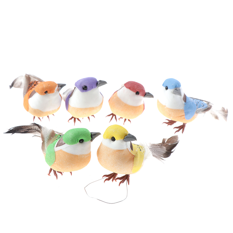 1PCS Many Types Fake Craft Birds Artificial Foam Feathers Mini Bird,Decoration Mariage Table,Birthday Party Decorations Kids