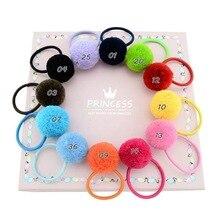 Simple Girl Head Ropes Korea Hairball Plush Rubber Band for Women Fashion Headdress