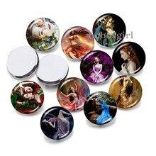 Meninas arte 12mm18mm 20mm botão snap jóias diy pulseira redonda foto cabochons de vidro p6790