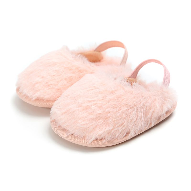 Winter Baby Girls Shoes Fur Snow Warm First Walkers Warm Indoor Girls Shoes