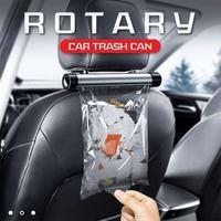 Dreh Auto Mülleimer Auto Organizer Metall Mülleimer Lagerung Müll Container Taschen Halter für Auto Rücksitz Organizer in die Auto