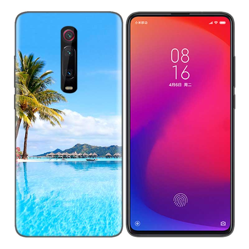 Black Soft Silicone Bag Cover Case for Xiaomi Mi 9T CC9 Redmi 4 4X 5 6 6A 7 7A Note Plus K20 Pro F1 Tampa Fall Clear Sea Sky San in Half wrapped Cases from Cellphones Telecommunications