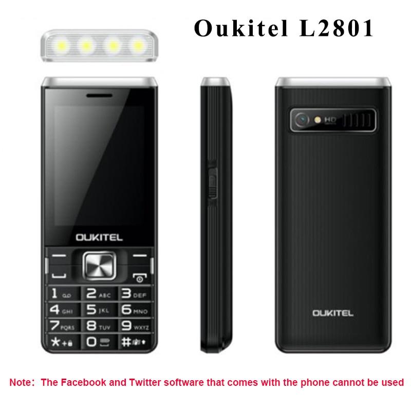 Original Oukitel L2801 2800mAh 3 SIM Bluetooth Cellphone Students Big Speacker Fashion Strong Flashlight Cheapest  Mobile Phones