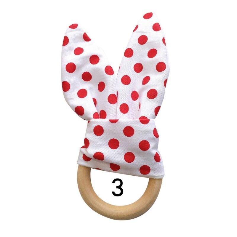 Милый детский Прорезыватель деревянное кольцо зубное кольцо детский прорезыватель зуб упражняющая игрушка - Цвет: C
