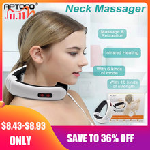 Aptoco Электрический импульсный массажер для спины и шеи Дальний инфракрасный инструмент для облегчения боли уход за здоровьем Релаксация