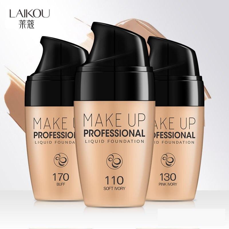 Fond de teint liquide professionnel couverture complète fond de teint maquillage blanchissant durable couleur naturelle correcteur primaire maquillage