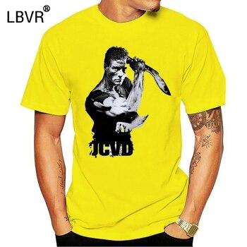 Jean Claude Van Damme Jcvd, camiseta blanca, camiseta personalizada para hombre, camisetas de orgullo de gran tamaño, camiseta de cómic para hombres