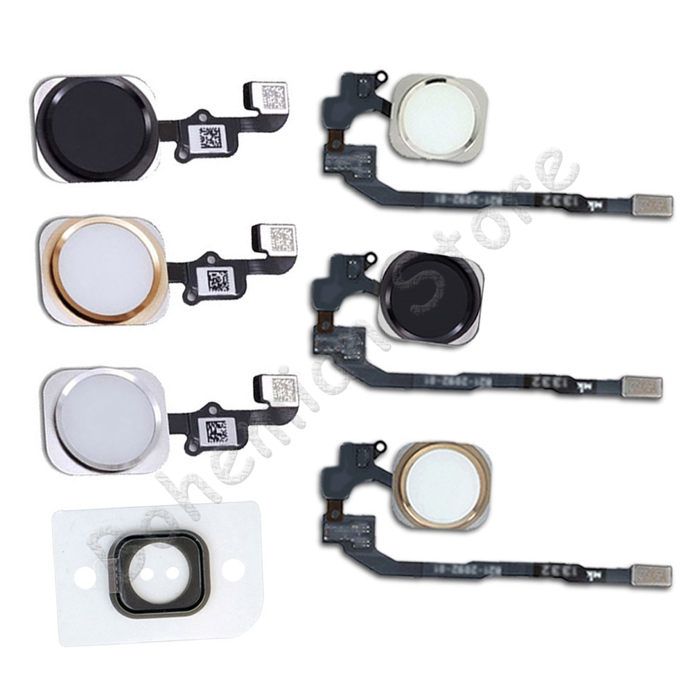 Home Button Flex For IPhone 6 6s 7 8 Plus 5s SE 6G 7G 8G Home Button With Flex Cable No Fingerprint Repair Part