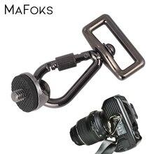 """Adaptador com parafuso de 1/4 """", adaptador com gancho de conexão para câmera, rápida alça de tiro, cinto de pescoço, câmeras dslr capa com estojo"""