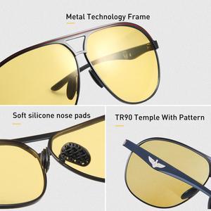 Image 4 - CAPONI الفاخرة مصمم النظارات الشمسية الرجال فوتوكروميك موضة القيادة نظارات الذكور الاستقطاب البني الرجال نظارات شمسية UV400 BSYS8606