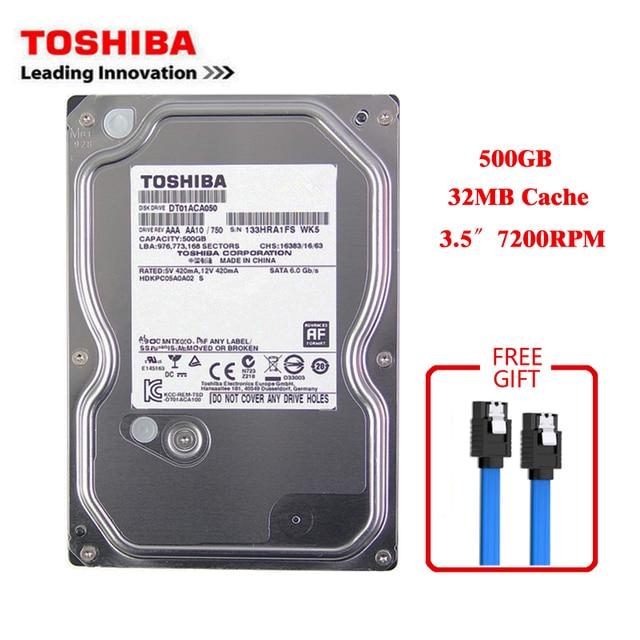 "Toshiba brand 500GB desktop computer 3.5"" internal mechanical hard disk SATA3 3-6Gb / s HDD 32MB Cache 500GB 7200RPM buffer"