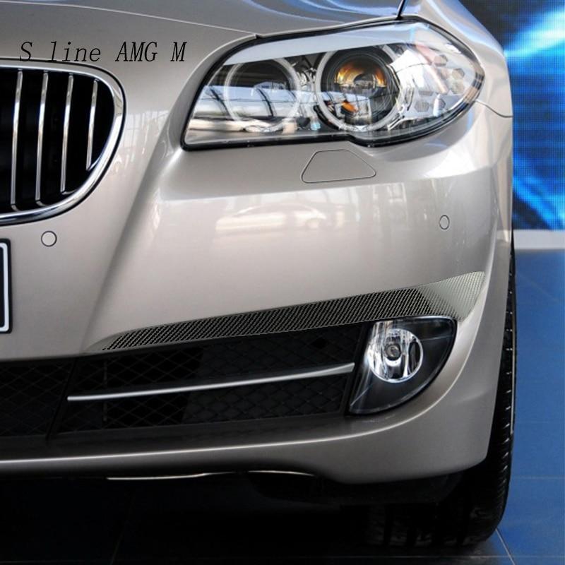 Auto Styling Carbon faser für BMW 5 series F10 F07 5gt 2011 2013 front nebel licht augenbraue Wind messer Aufkleber trim Auto zubehör