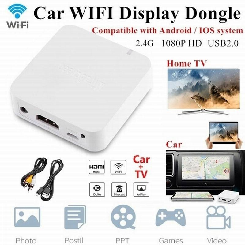 Car Wireless Wifi Display Anycast Screen Mirroring Hdmi AV Video Adapter Dongle Home TV Receiver For Car Electronics Accessories