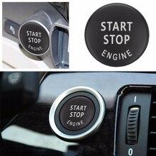 2,3 cm para BMW X1 X3 X5 X6 E70 E71 E84 E89 E87 E90 E91 E92 E60 1 3 5 serie Auto motor de arranque y parada interruptor de botón reemplazar la tapa