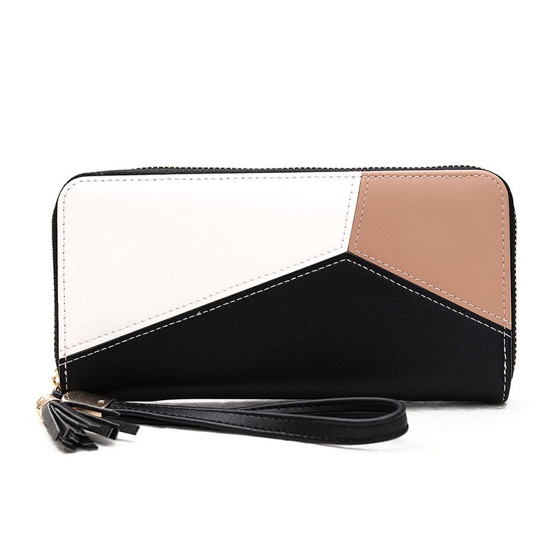 wallet women PU leather long clutch for  moda mujer Fashion Geometric Organizer Wallets