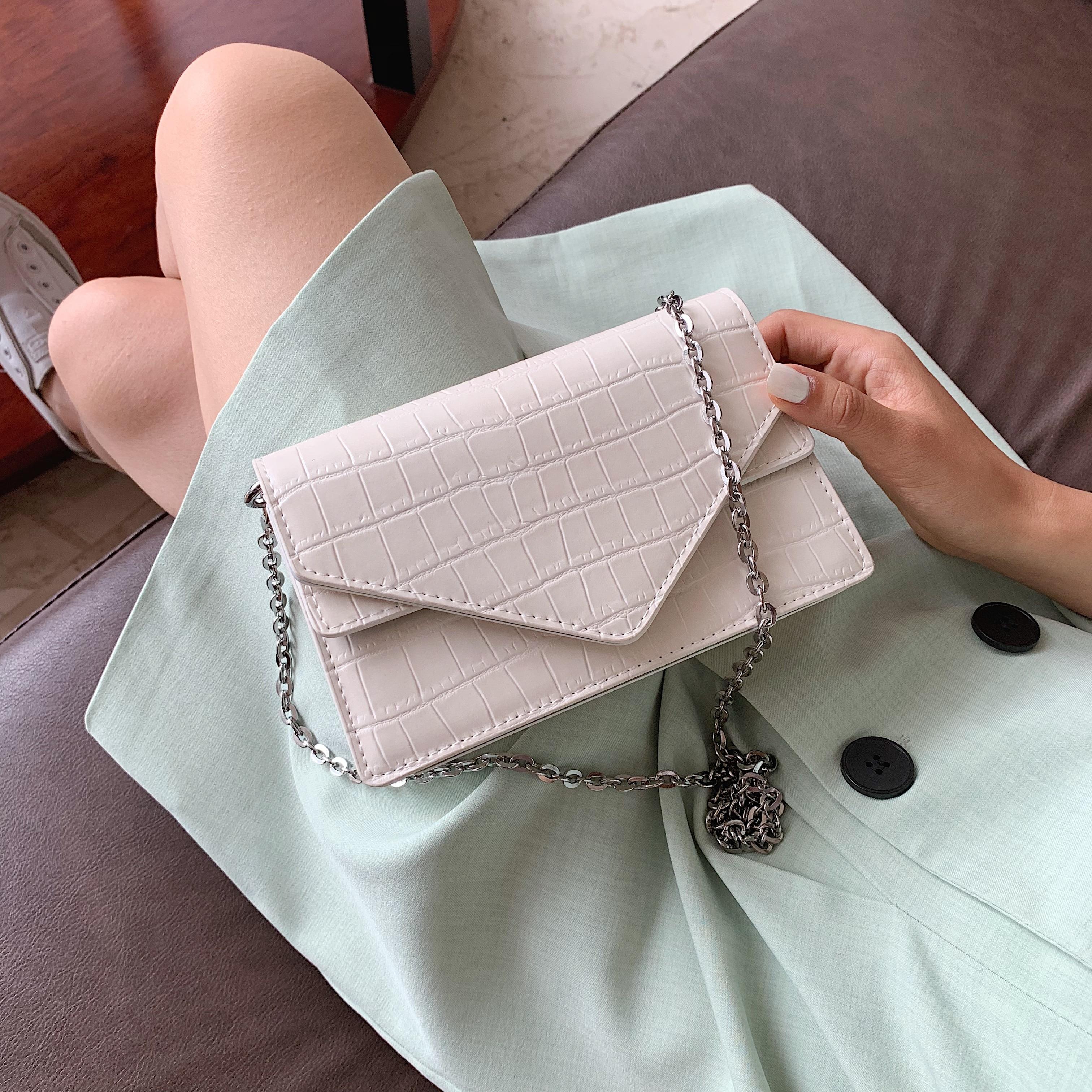 Messenger Bags For Women Solid Color Flap Chain Shoulder Bag Female Leather Flap Crossbody Bags Retro Women Purse And Handbag