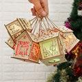 Светодиодный светильник деревянный дом Рождественская елка висячие украшения праздничное украшение хороший рождественский подарок