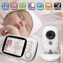 VB603 Video bebek izleme monitörü 2.4G kablosuz 3.2 inç LCD 2 yönlü ses konuşma gece görüş gözetim güvenlik kamera bebek bakıcısı