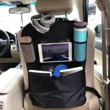 Car Back Seat Organizer Front Seat Storage Kids Pocket Bag Protect Storage Bag For Children Baby Kick Mat Protect Storage Bag