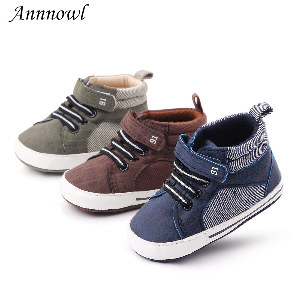 Brand Baby Shoes Anti-slip Soft Sole Toddler First Walkers Newborn Boots Step Shoe Infant Baby Boy Shoes For 1 Year Old Footwear