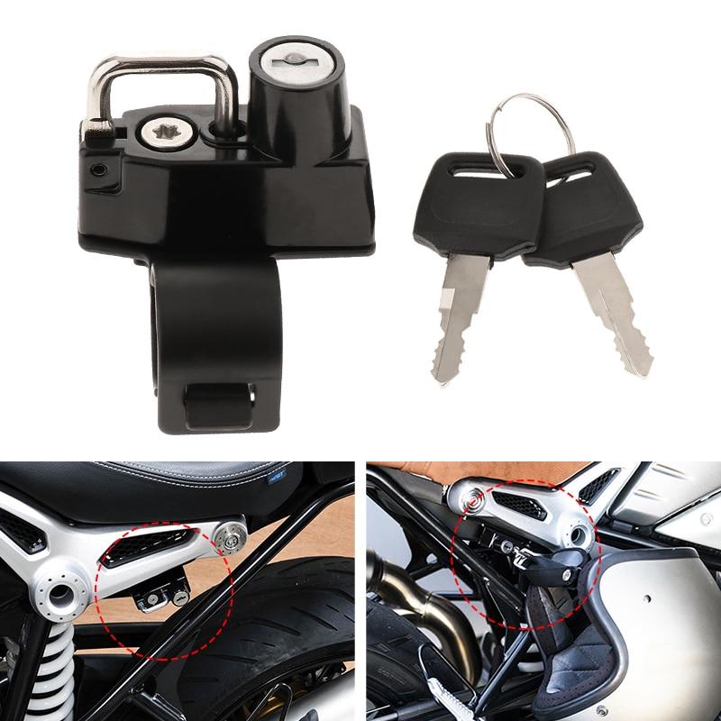 Motorcycle Anti-theft Helmet Lock Durable Metal Anti-theft Motorbike Helmet Locks 2 Key Set For BMW R NineT Scrambler Pure Racer