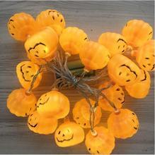 Halloween Ghost Festival Smiley Pumpkin String Lights Holiday Decoration Lanterns 10 20 LED Light