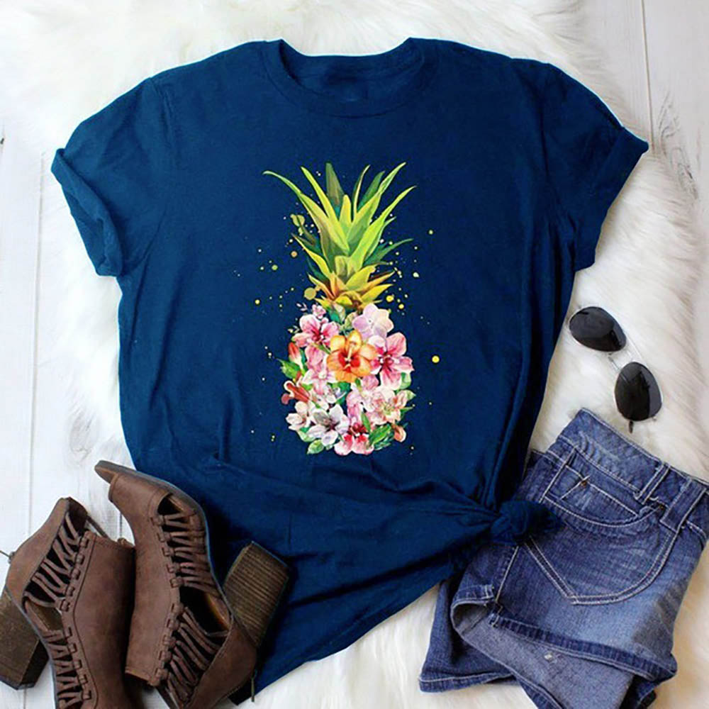 Womens Cool Giraffe Family Short-Sleeve Crewneck T-Shirt Print Tees Shirt Short Sleeve T Shirt Blouse Tops Black