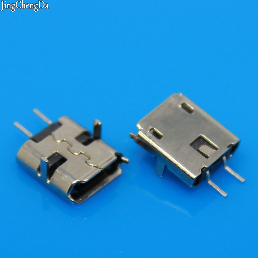JCD 1pcs <font><b>MICRO</b></font> <font><b>USB</b></font> 2 Pin Jack Interface <font><b>Connector</b></font> socket SMD SMT <font><b>pcb</b></font> dock Plugs DIY parts 2P female plug Mike 2-Pin image