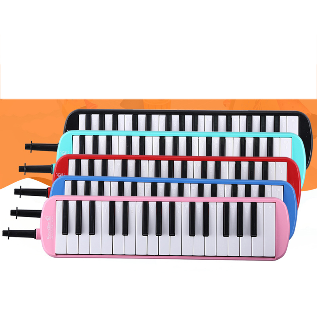 <font><b>32</b></font> <font><b>Keys</b></font> <font><b>Melodica</b></font> Piano Style Pianica Musical Education Instrument Educational Toy Gift For Children Kids - Red Pink Green Blue image